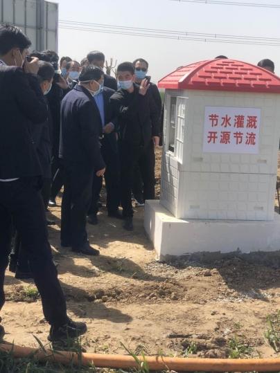 河南省副省长武国定视察叶县2019年8万亩高标准农田项目